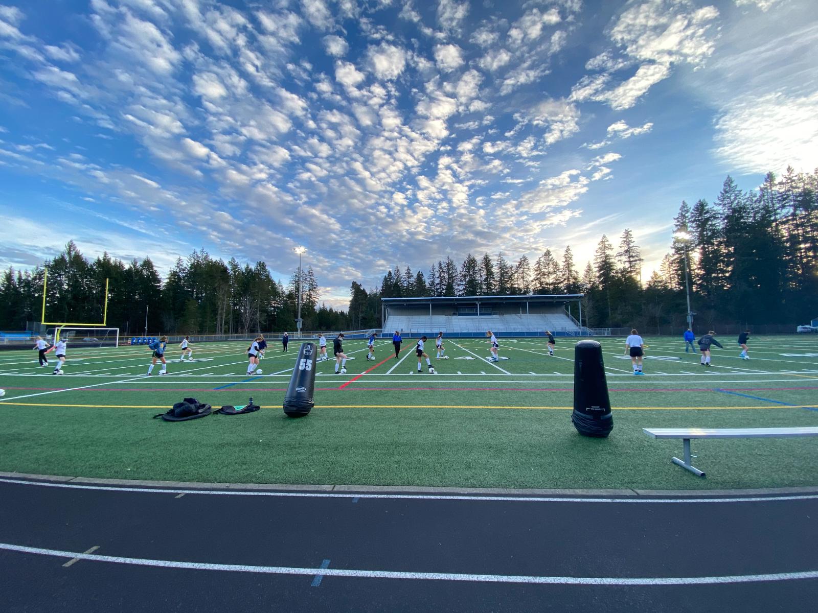 Girls Soccer Practice Shots