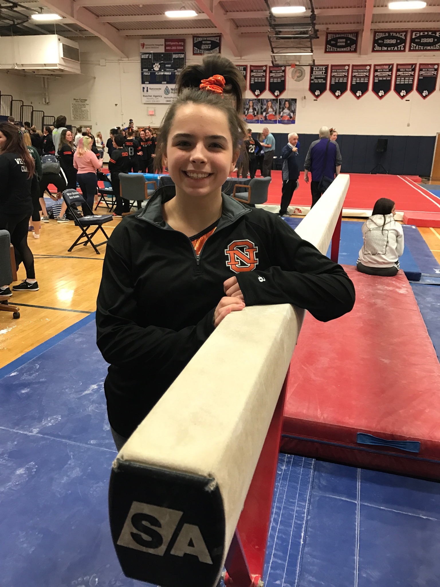 Eagle gymnast places 3rd on the beam and advances to the OHSAA District