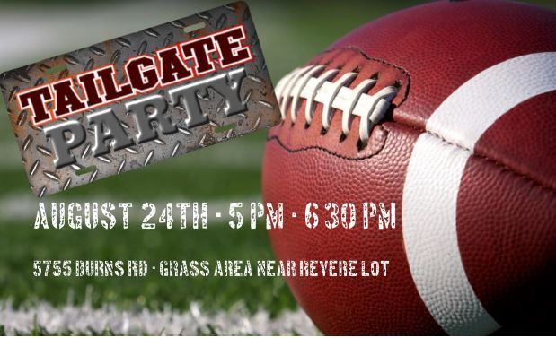 Community Tailgate Party – August 24th