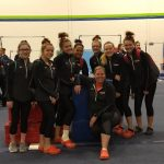Girls Varsity Gymnastics finishes 1st place at Berea-Midpark, Olmsted Falls, Fairview, St. Joseph Academy