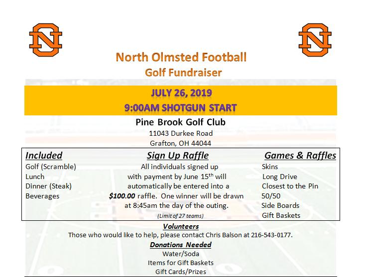 Football Golf Fundraiser – July 26
