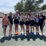 Girls Varsity Tennis finishes 2nd place at Lakewood Doubles