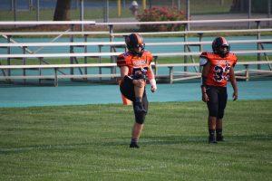 JV Football, Cheer at Amherst