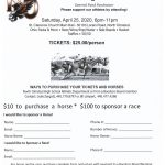 Night at the Races Saturday, April 25th, 6 – 11 PM