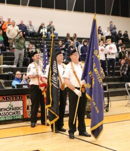Color Guard at Varsity vs Berea game 2020