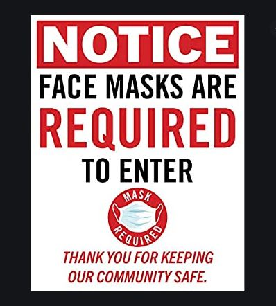 Covid safety protocols and guidelines – Face Masks Required