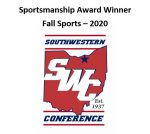 Sportsmanship Award Winners – Fall Sports 2020