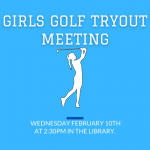LHS Girls Golf Tryout Meeting