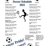 Girls Soccer Schedule 2021