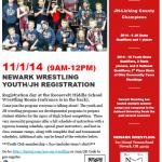 Youth/JH Wrestling Registration 11/1/14; 9am-12pm @ Roosevelt