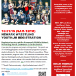 Newark Youth/JH Wrestling Registration 10/31 @ Roosevelt from 9am-12pm