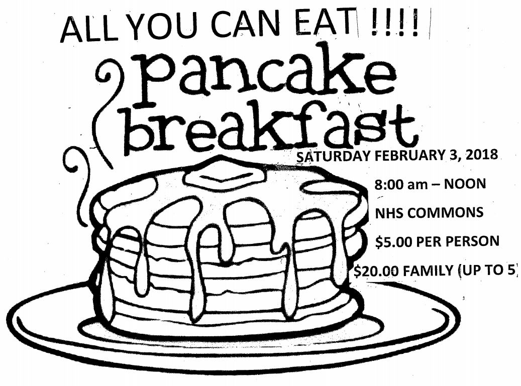 Booster Club Pancake Breakfast Feb 3rd