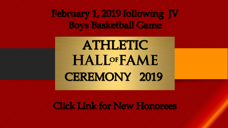 2019 Athletic Hall of Fame Induction Ceremony Information