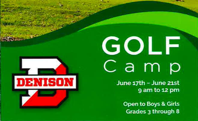 Denison Golf Camp for Grades 3-8 (Boys and Girls) Information from June 17-22, 2019