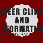 Mandatory Cheer Clinic (May 21, 22 and 23 @ Heritage Middle School)