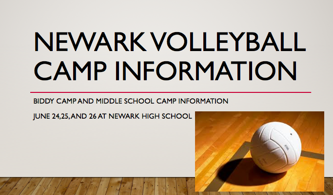 Newark Volleyball Middle School and Biddy Camp information