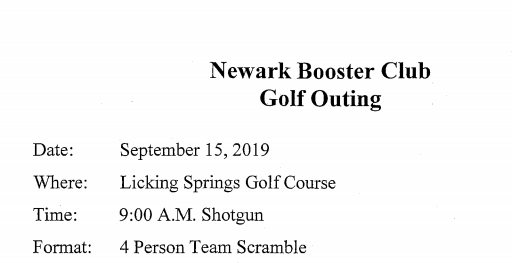 2019 Booster Club Golf Outing