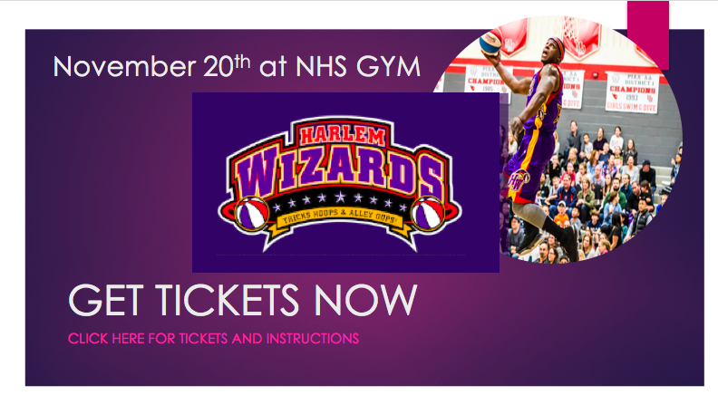 GET TICKETS NOW FOR HARLEM WIZARDS