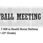 Softball Meeting on 9/11/19