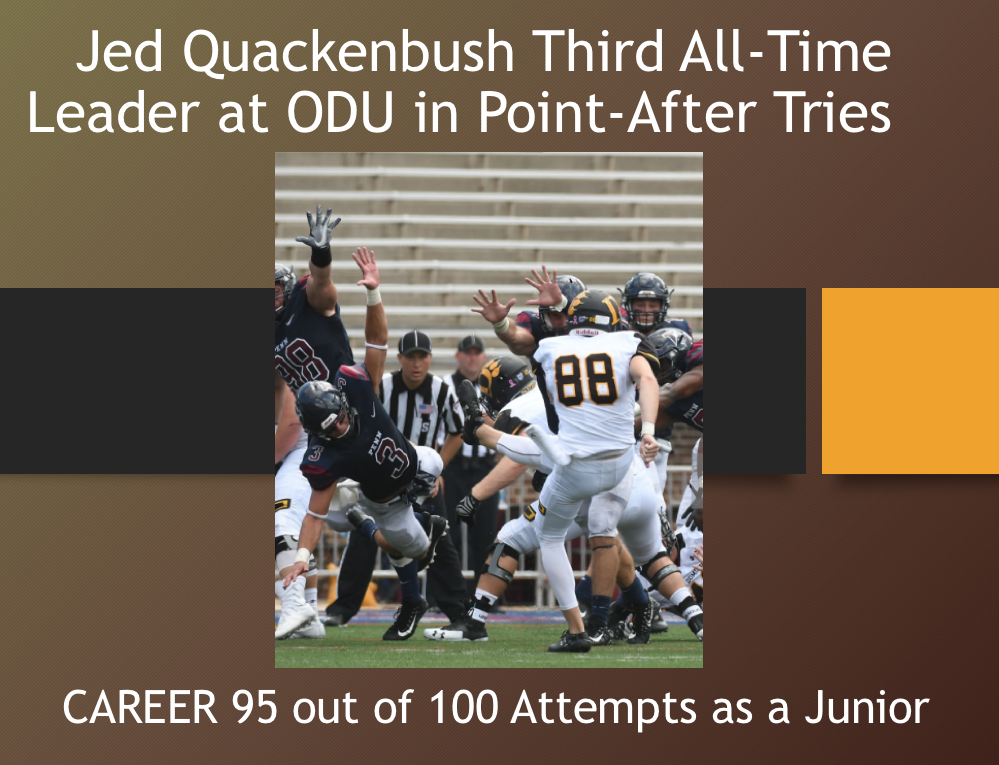 Jed Quackenbush (Newark Graduate) is Rising on Career Boards at ODU