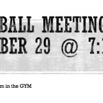 Softball Meeting October 29 @ 7:15 AM
