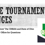 No State Tournament Spectators for Girls Basketball (Family Only) Per OHSAA