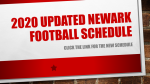 Updated 2020 Newark Football Schedule