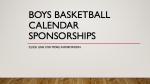 Boys Basketball Calendar Sponsorship Information