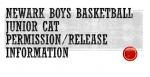 Newark Boys Basketball Junior Cat Permission/Release Information