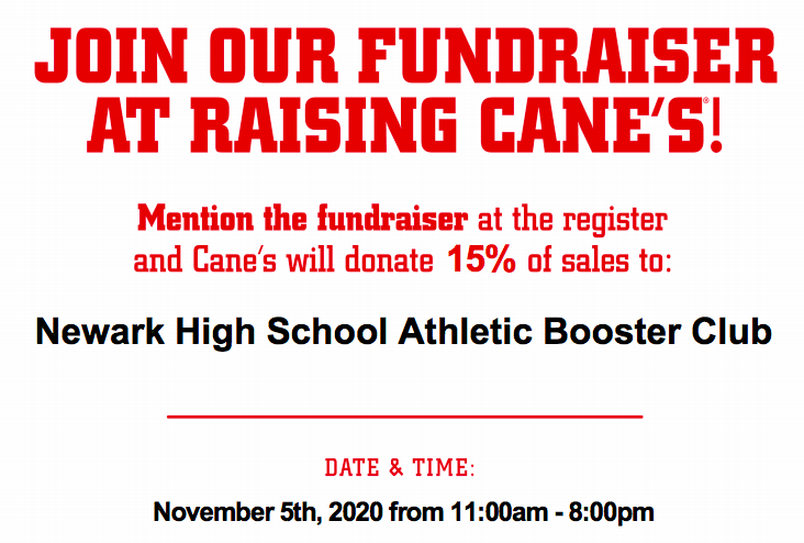 Raising Caines Fundraiser for Newark Lifting and Conditioning