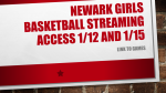 Girls JV/Varsity Streaming Information for this Week