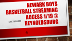 Newark Boys Basketball v. Reynoldsburg Streaming Info for 1/19 Game