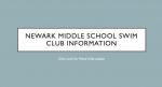 Newark Middle School Swim Club Information