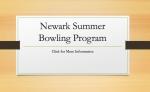 Summer Bowling Program