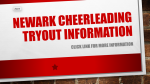 Newark Cheerleading Tryout Information