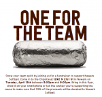 Softball Chipotle Fundraiser Tuesday, 4/17…Come to 21st Street Location
