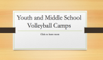 2021 Youth Volleyball Camp Information
