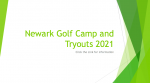 2021 Newark Wildcat Golf Camp and Tryout Information