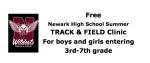 Free Newark Track Clinic June 21-25, 2021