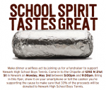 Tennis Chipotle Fundraiser May 3rd