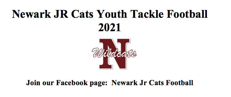 Junior Cat Football League Sign-Up Information 2021 Season ($50) and Free Football Camp