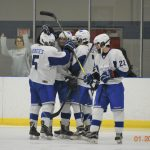 Boys Varsity Hockey falls to Holy Name in Shootout