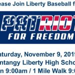 Liberty Baseball Patriots for Freedom 5K – Saturday, Nov 9th