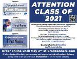 2021 Graduation Banner Sale