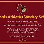 Cardinal Athletics Weekly Schedule 3/1-3/6