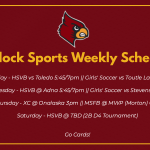 Winlock Sports Weekly Schedule