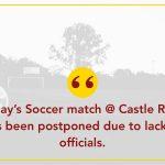Soccer Postponed