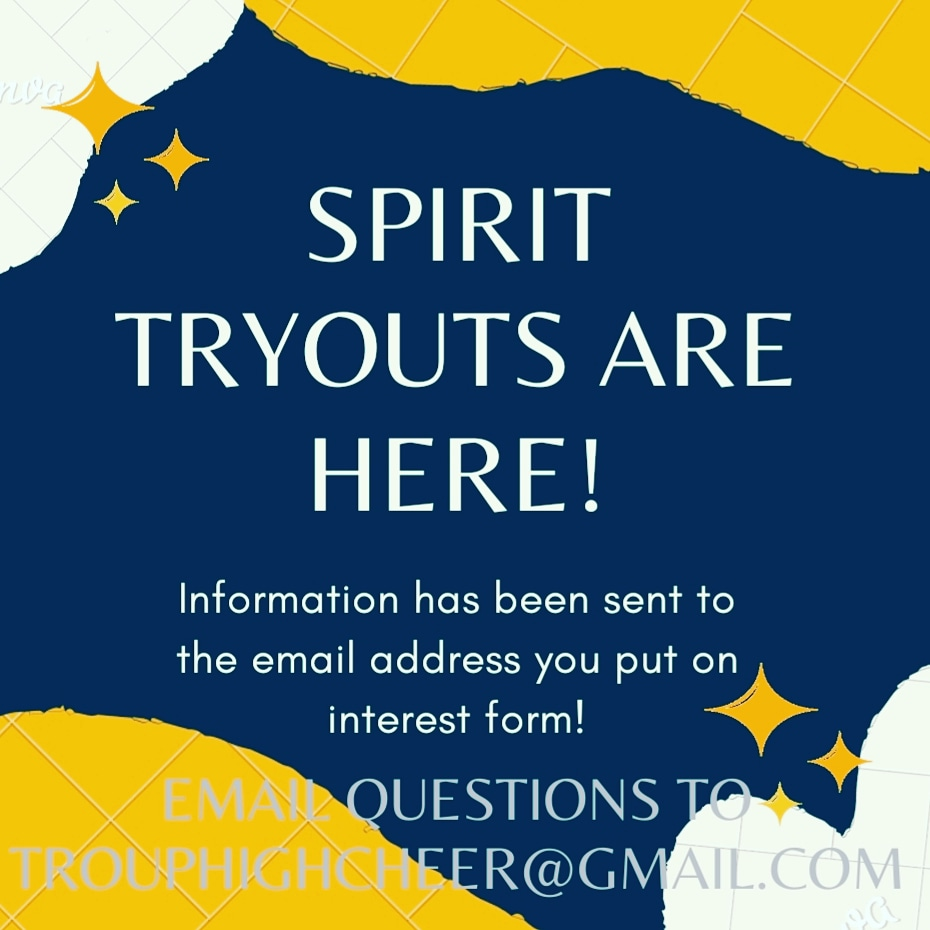Time for Spirit Cheer tryouts!