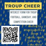Troup Cheer Interest Meeting!