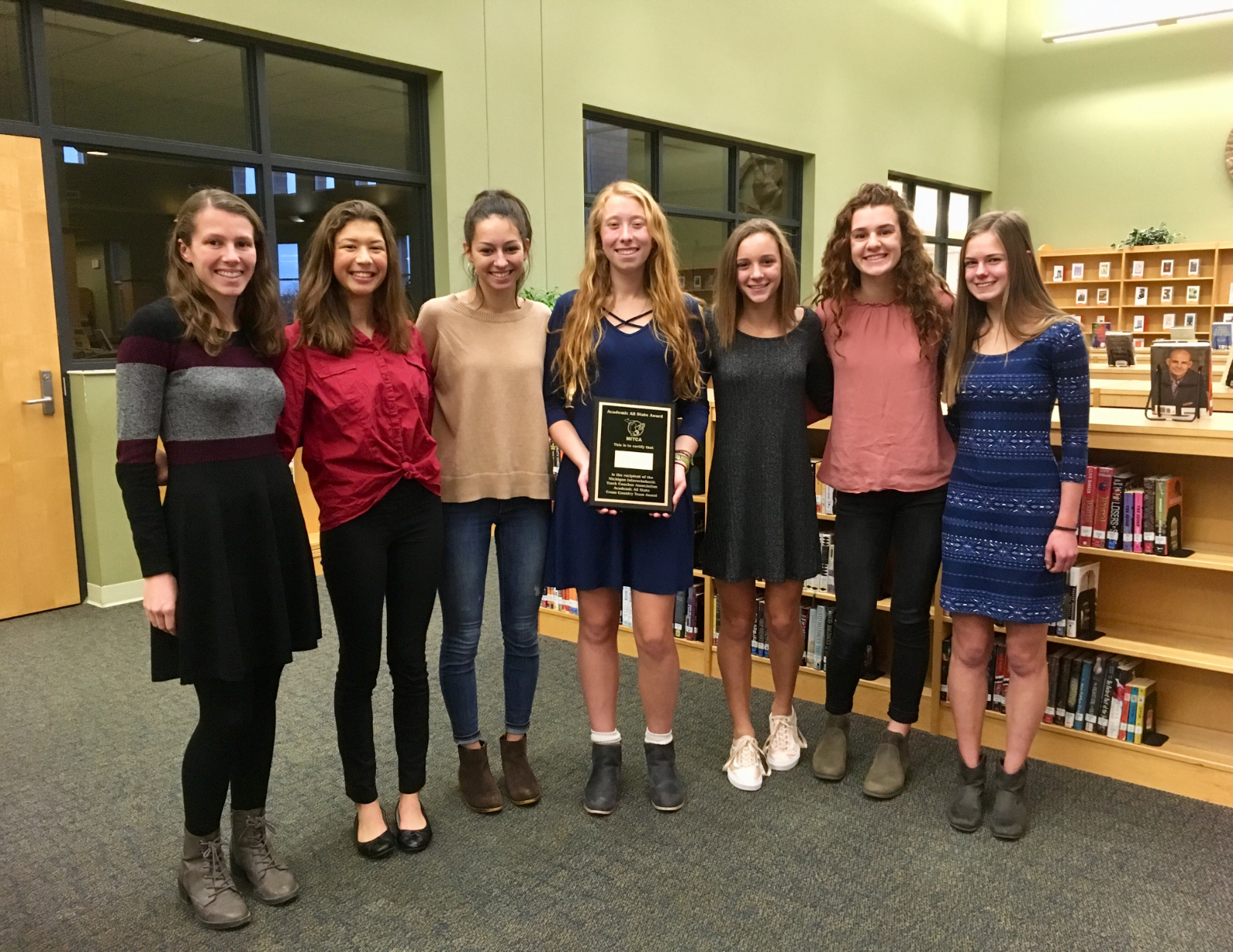 Girls Cross Country recognized as best in Michigan.